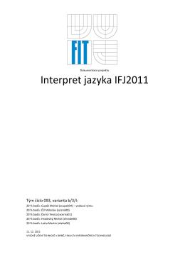 Interpret jazyka IFJ2011