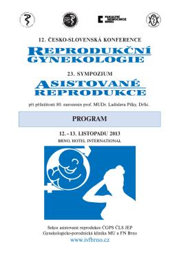12. česko-slovenská konference reprodukční gynekologie a 23