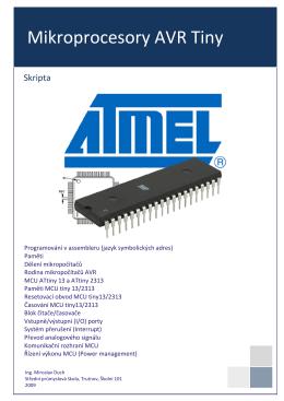 Mikroprocesory AVR Tiny - Střední průmyslová škola Trutnov