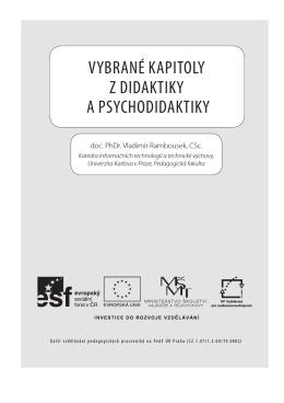 Vybrané kapitoly z didaktiky a psychodidaktiky