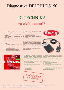 Diagnostika DELPHI DS150 + IC TECHNIKA za akční cenu!*