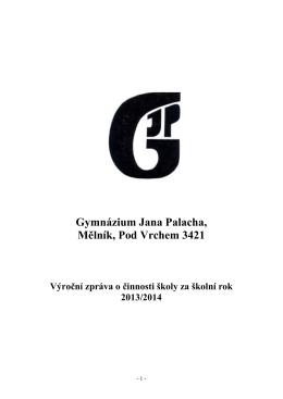Výroční zpráva - Gymnázium Jana Palacha