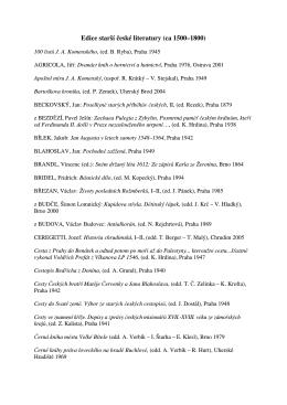 Edice starší české literatury (ca 1500–1800)