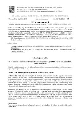 Usnesení - exekucenj.cz