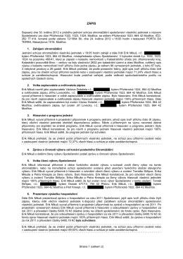 Zápis ze schůze - prizrenicka.cz