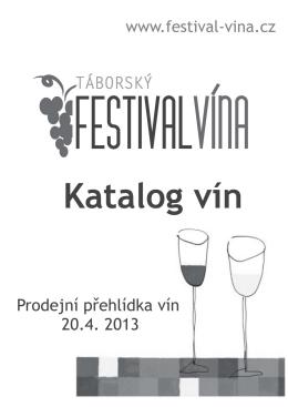 Katalog vín - prodejní přehlídka 2013 (PDF)