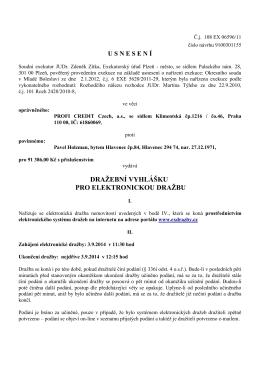 Dražební vyhláška č.j. 108 EX 06596/11 - dražba