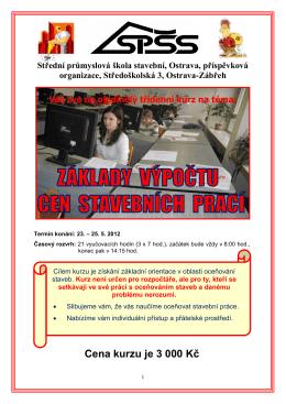 pozvánka - Střední průmyslová škola stavební, Ostrava