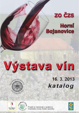 2013 - Výstava vín - katalog - Zahrádkáři Horní Bojanovice