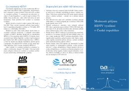 Možnosti příjmu HDTV vysílání v České republice