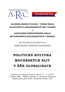 politická kultura mocenských elit v éře globalizace