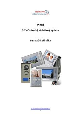 Instalační příručka - Domovní telefony a videotelefony