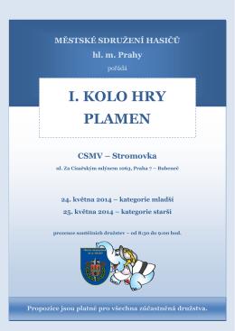 I. KOLO HRY PLAMEN CSMV – Stromovka