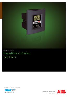 Regulátory účiníku typu RVC