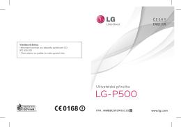 LG P500.pdf - Úvod