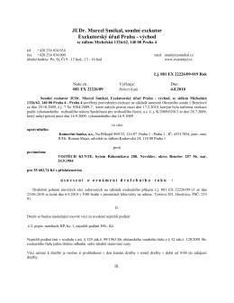 JUDr. Marcel Smékal, soudní exekutor Exekutorský úřad