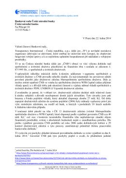 Bankovní rada České národní banky Česká národní banka Na