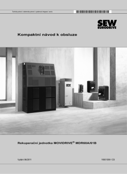 Rekuperační jednotka MOVIDRIVE® MDR60A/61B