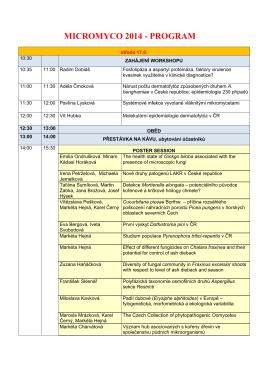 MICROMYCO 2014-program