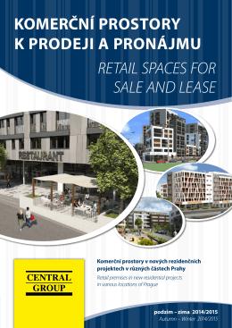 komerční prostory k prodeji a pronájmu retail spaces