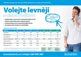 Cenově zvýhodněné tarify pro členy ČRS