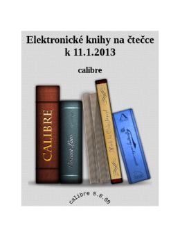 Elektronické knihy na čtečce k 11.1.2013