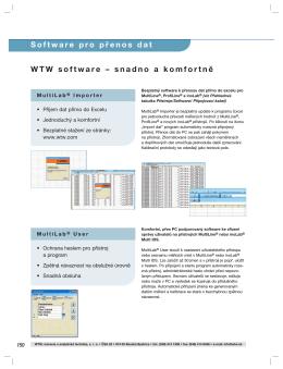 Strana 150-151 Software pro přenos dat