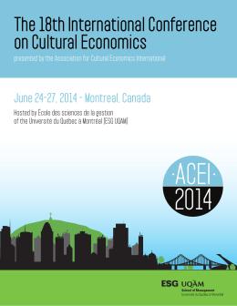 conference program - ACEI 2014 - Université du Québec à Montréal