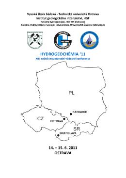 hydrogeochémia `11 - Institut geologického inženýrství, VŠB