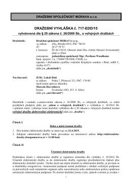 Dražební vyhláška_Horváthová_byt Jirkov