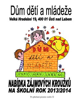 Nabídka zájmových kroužků - Dům dětí a mládeže Ústí nad Labem