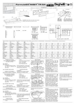 Montážní návod - verze SA - BEGHELLI