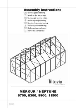 MERKUR / NEPTUNE 6700, 8300, 9900, 11500 Assembly