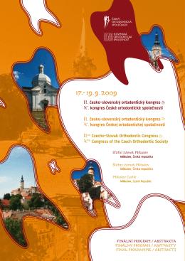 finální program (pdf) - kongres České ortodontické společnosti
