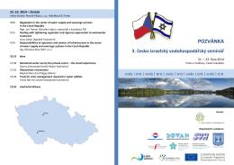 22. 10. 2014, 3. česko-izraelský vodohospodářský seminář