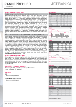 ranní přehled - ATLANTIK finanční trhy, a.s.