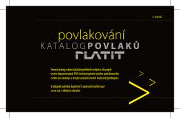 Katalog povlaků Platit