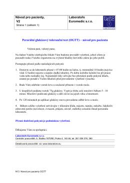 (OGTT) – návod pro pacient