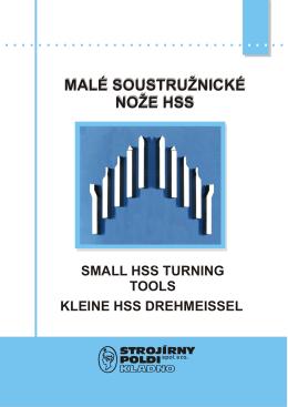 Katalog malých nožů - STROJÍRNY POLDI, a.s.