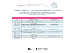 Program konference pro neziskové a zdravotnické