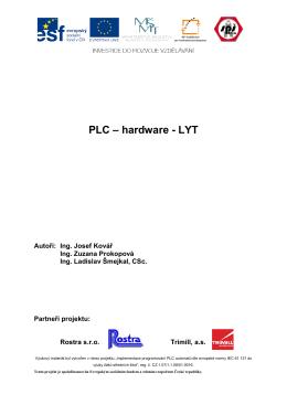 PLC – hardware – LYT - Střední průmyslová škola Zlín