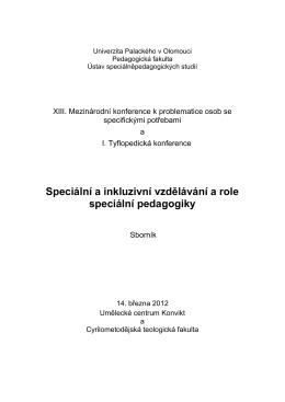 Sborník XIII. Mezinárodní konference k problematice