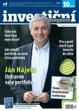 Ján Hájek: - Investiční magazín