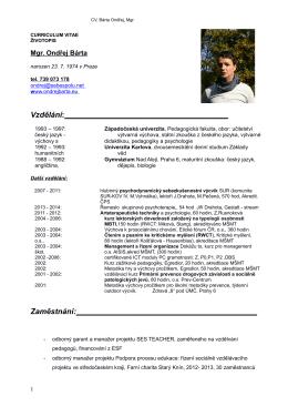 Curriculum vitæ - Ondrejbarta.eu