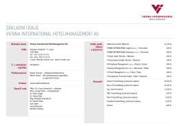 Základní údaje Vienna international Hotelmanagement ag