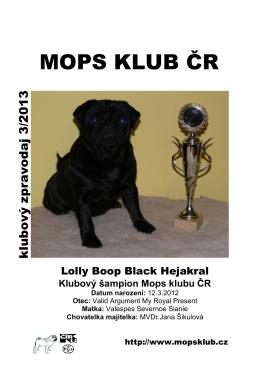 3/2013 - Mops klub ČR