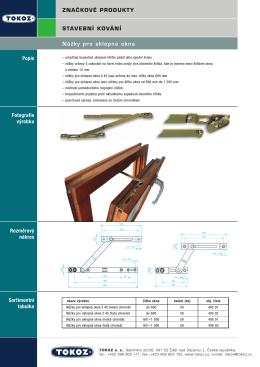 Nůžky pro sklopná okna