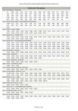 Seznam železničních přejezdů podle traťových úseků na kterých leží