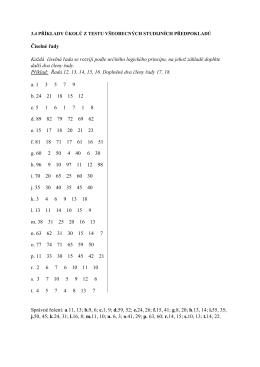 Číselné řady Každá číselná řada se rozvíjí podle určitého logického