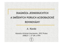 Diagnóza poruch acidobazické rovnováhy